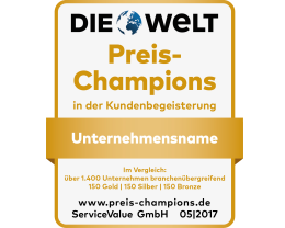 Siegel Preis Champion Service Value